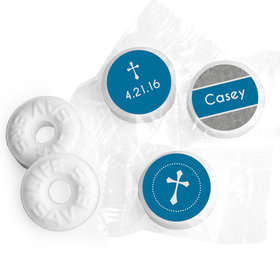 Communion Personalized Life Savers Mints Fluer de Lis Cross