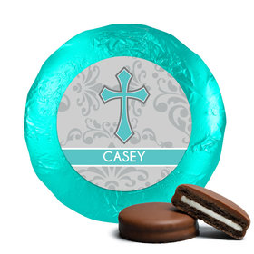Communion Chocolate Covered Oreos Fluer de Lis Cross