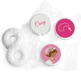 Communion Personalized Life Savers Mints Girl in Prayer