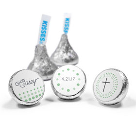 Communion Personalized Hershey's Kisses Circled Cross Assembled Kisses (50 Pack)