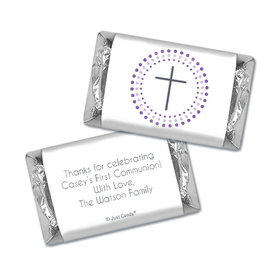 Communion Personalized Hershey's Miniatures Circled Cross