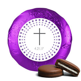 Communion Chocolate Covered Oreos Circled Cross (24 Pack)