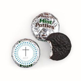 Communion Personalized Pearson's Mint Patties Circled Cross