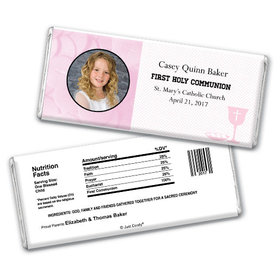 Communion Personalized Chocolate Bar Photo & Eucharist