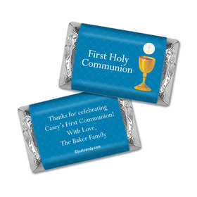 Communion Personalized Hershey's Miniatures Wrappers Golden Chalice