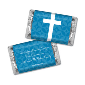 Communion Personalized Hershey's Miniatures Wrappers Initial Cross