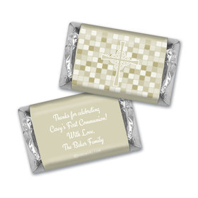 Communion Personalized Hershey's Miniatures Mosaic Cross