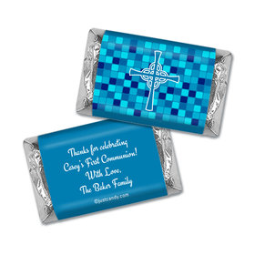 Communion Personalized Hershey's Miniatures Wrappers Mosaic Cross