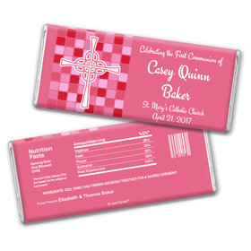 Communion Personalized Chocolate Bar Mosaic Cross