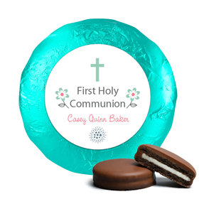 First Communion Chocolate Covered Oreos Blooming Flowers (24 Pack)