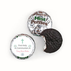 First Communion Personalized Pearson's Mint Patties Blooming Flowers