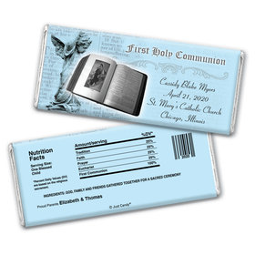 Communion Personalized Chocolate Bar Wrappers Bible & Angel