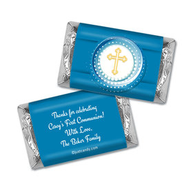 Communion Personalized Hershey's Miniatures Wrappers Encircled Cross