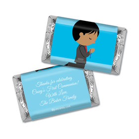 Communion Personalized Hershey's Miniatures Wrappers Boy in Prayer