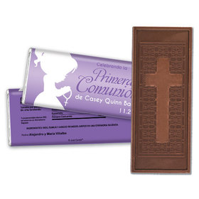 Communion Embossed Cross Chocolate Bar Oraciones Preciosas