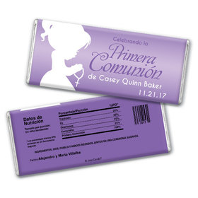 Communion Personalized Chocolate Bar Oraciones Preciosas