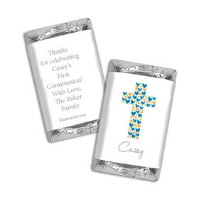 Communion Personalized Hershey's Miniatures Wrappers Heart Cross