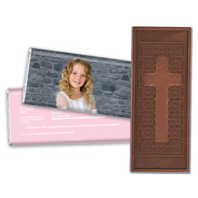Communion Embossed Cross Chocolate Bar Full Photo