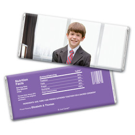 Communion Personalized Chocolate Bar Wrappers Full Photo
