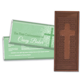 Communion Embossed Cross Chocolate Bar Classic Cross