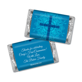 Communion Personalized Hershey's Miniatures Wrappers Classic Cross