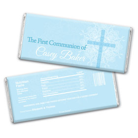 Communion Personalized Chocolate Bar Wrappers Classic Cross