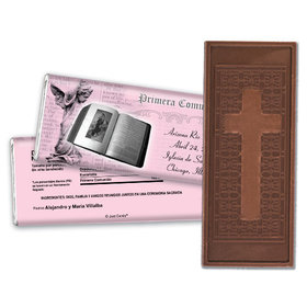 Communion Embossed Cross Chocolate Bar Palabra de Dios