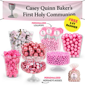 Personalized Girl First Communion Chalice Deluxe Candy Buffet