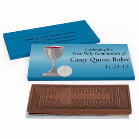 Deluxe Personalized First Communion Classic Embossed Chocolate Bar in Gift Box