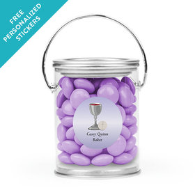 Personalized Communion Paint Can Host and Silver Chalice (25 Pack)