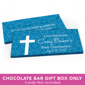 Deluxe Personalized First Communion Initial Cross Candy Bar Cover