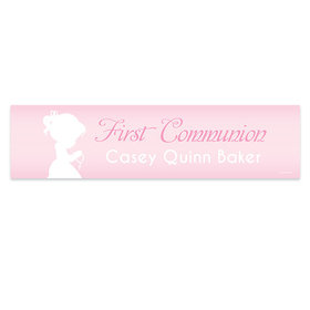 Personalized Communion Child in Prayer Banner