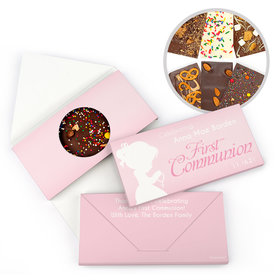 Personalized First Communion Precious Prayers Gourmet Infused Belgian Chocolate Bars (3.5oz)