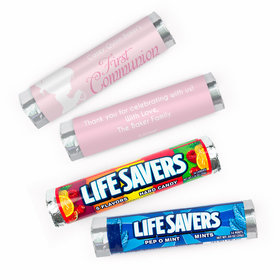 Personalized Communion Child in Prayer Lifesavers Rolls (20 Rolls)