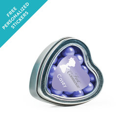 Personalized Communion Small Heart Tin Child in Prayer (25 Pack)