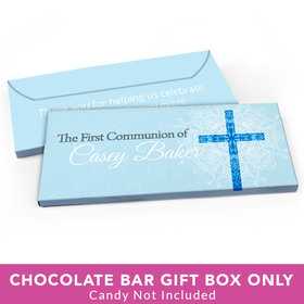 Deluxe Personalized First Communion Shining Day Candy Bar Favor Box