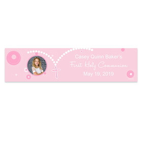 Personalized Communion Rosary Photo Banner