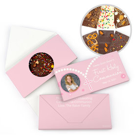 Personalized First Communion Rosary Gourmet Infused Belgian Chocolate Bars (3.5oz)