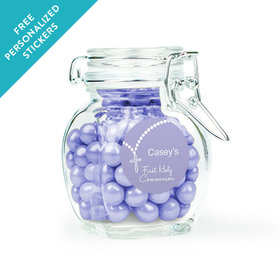 Communion Favor Personalized Latch Jar Rosary Photo (6 Pack)