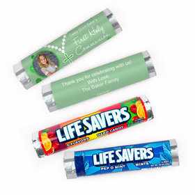 Personalized Communion Rosary Photo Lifesavers Rolls (20 Rolls)