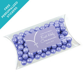Personalized Communion Pillow Box Rosary Photo (25 Pack)