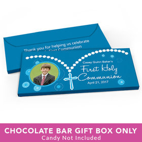 Deluxe Personalized First Communion Roserary Photo Candy Bar Cover