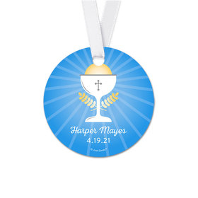 Personalized Round Chalice Communion Favor Gift Tags (20 Pack)