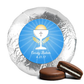 Personalized Communion Chalice Milk Chocolate Covered Oreos (24 Pack)