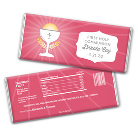 Personalized First Communion Chalice Chocolate Bar Wrappers