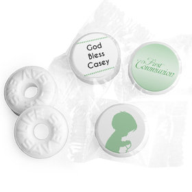 Communion Personalized Life Savers Mints Child in Prayer
