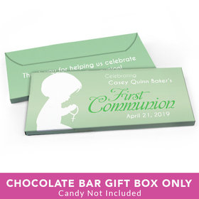 Deluxe Personalized First Communion Child in Prayer Candy Bar Cover