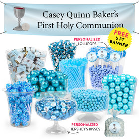 Personalized Boy First Communion Chalice Deluxe Candy Buffet