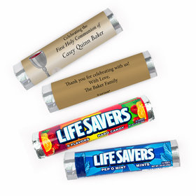 Personalized Communion Host & Chalice Lifesavers Rolls (20 Rolls)