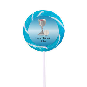 Personalized Communion Host and Silver Chalice- 24 Pack